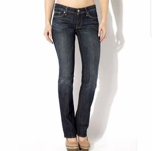 7 For All Mankind   Straight Leg Gray Wash Jeans